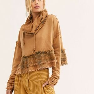 Free People Playing in Plaid Cotton Pullover